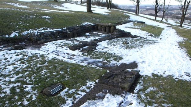 The bath house, Bar Hill Roman fort
