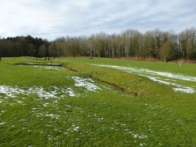 The line of the Antonine Wall at Kinneil Estate, Bo'ness