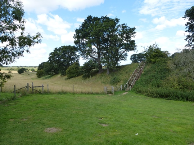 The southern wall and vallum of Caistor Roman town, Norfolk
