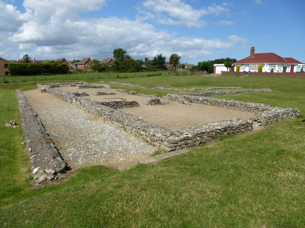 The foundations of 'Buildling I' at Caistor-on-Sea Roman fort, Norfolk