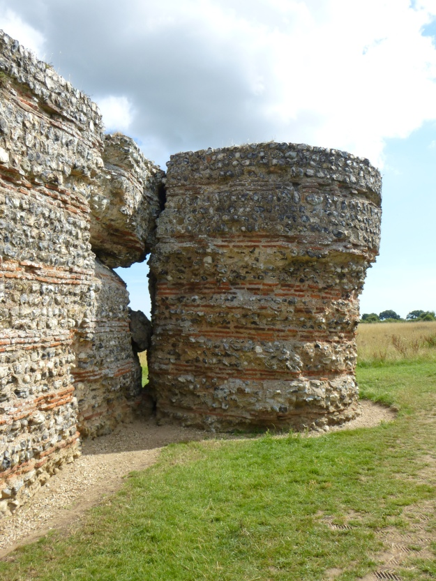 The later bastion on the south-westerly corner of Burgh Castle Roman Fort, Norfolk
